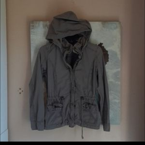 Cotton On Green Hooded Utility Jacket Size Small
